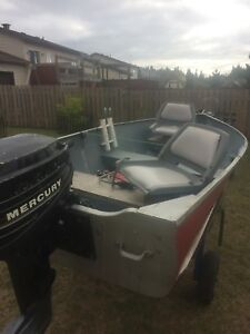 12ft Aluminum Boat with 9.9 Outboard