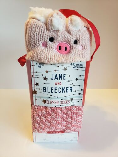 women s slipper socks pink pig shoe