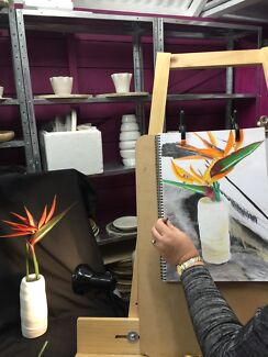 3 x Art classes - drawing with charcoal and soft pastels