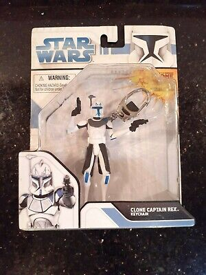 Star Wars CLONE WARS 2008 CLONE CAPTAIN REX Keychain Basic Fun #1820