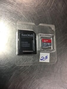 Sandisk 64gb micro sd card new never used 20$