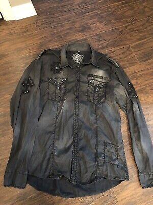 Roar Men's long sleeve button up shirt Size XL. NWOT