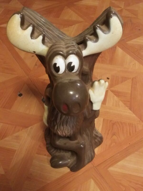 Bullwinkle Coin Bank Vintage