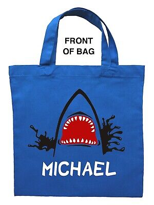 Shark Trick or Treat Bag, Personalized Shark Halloween Bag, Custom Shark Bag - Halloween Trick Or Treat Bags Crafts