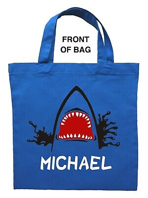Shark Trick or Treat Bag, Personalized Shark Halloween Bag, Custom Shark - Halloween Treat Bags Personalized