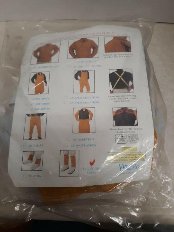 "WELDAS 14"" LEGGING Welding Spats, Leather Gaiters, Footwear Protection 44-2114"