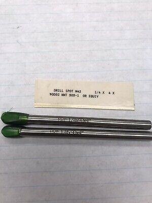 2 Pcs. 14 90deg X 4oal Cobalt Spot Drill. Made In Usa. Loc H7