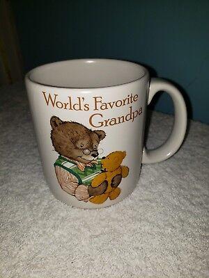 Vintage World's Best Grandpa Coffee Mug Cup Bear American Greetings