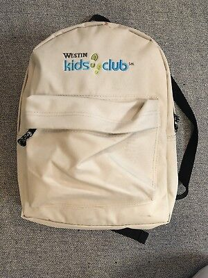 Westin Kids Club Canvas Backpack   Starwood Hotel Family Resort Rare Travel Bag