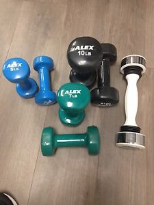 Rubber coated weights for sale
