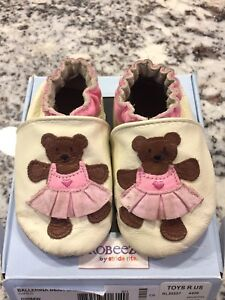 Robeez Leather Slippers for Babies 6-12 Months Old