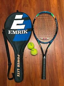 Great EMRIK Power Lite Graphite Tennis Racquet with Carrying Bag North Sydney North Sydney Area Preview
