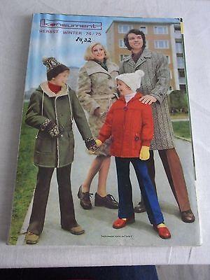 Konsument Versandhaus Karl Marx Stadt - Original Katalog Herbst - Winter 1974/75