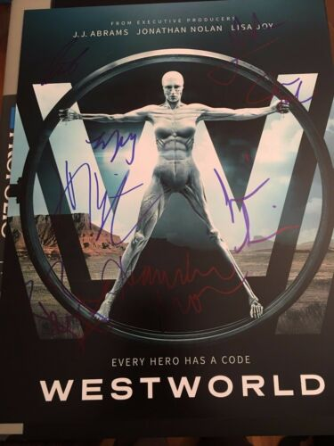 WESTWORLD SIGNED PHOTO CAST 11X14! THANDIE NEWTON JAMES MARSDEN AUTOGRAPH! NOLAN