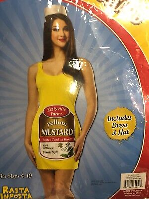 Yellow Mustard Costume Zestyville Womens Tank Dress Adult Halloween Fantasy ](Mustard Halloween Costume)