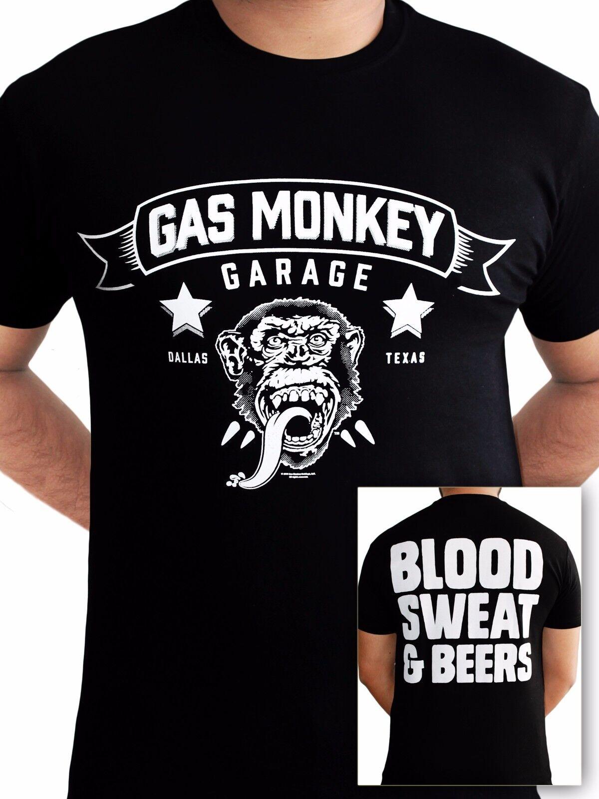 T-shirt Homme noir noir Taille Unique Gas Monkey Garage