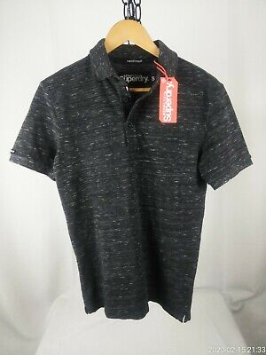 Men's small SUPERDRY gray polo shirt NEW WITH TAGS