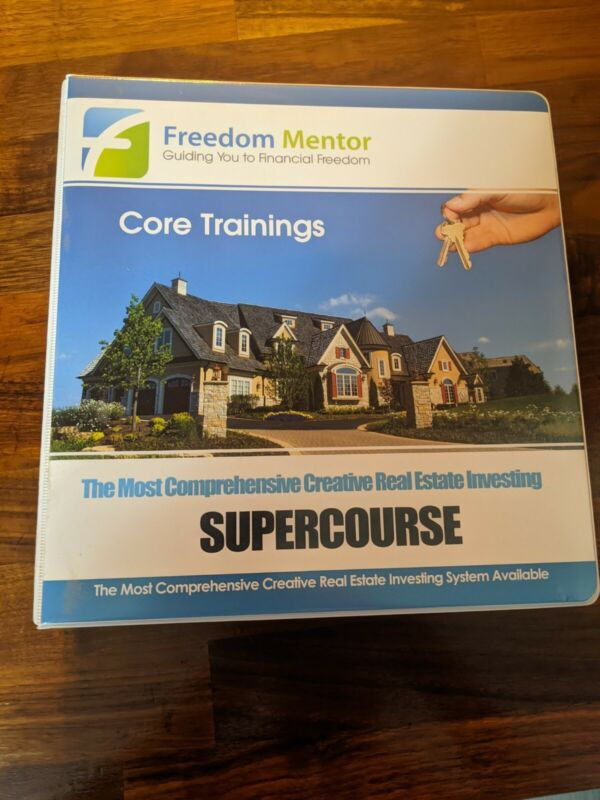 Freedom Mentor Real Estate Investing Course, 34 DVD Set And Manual