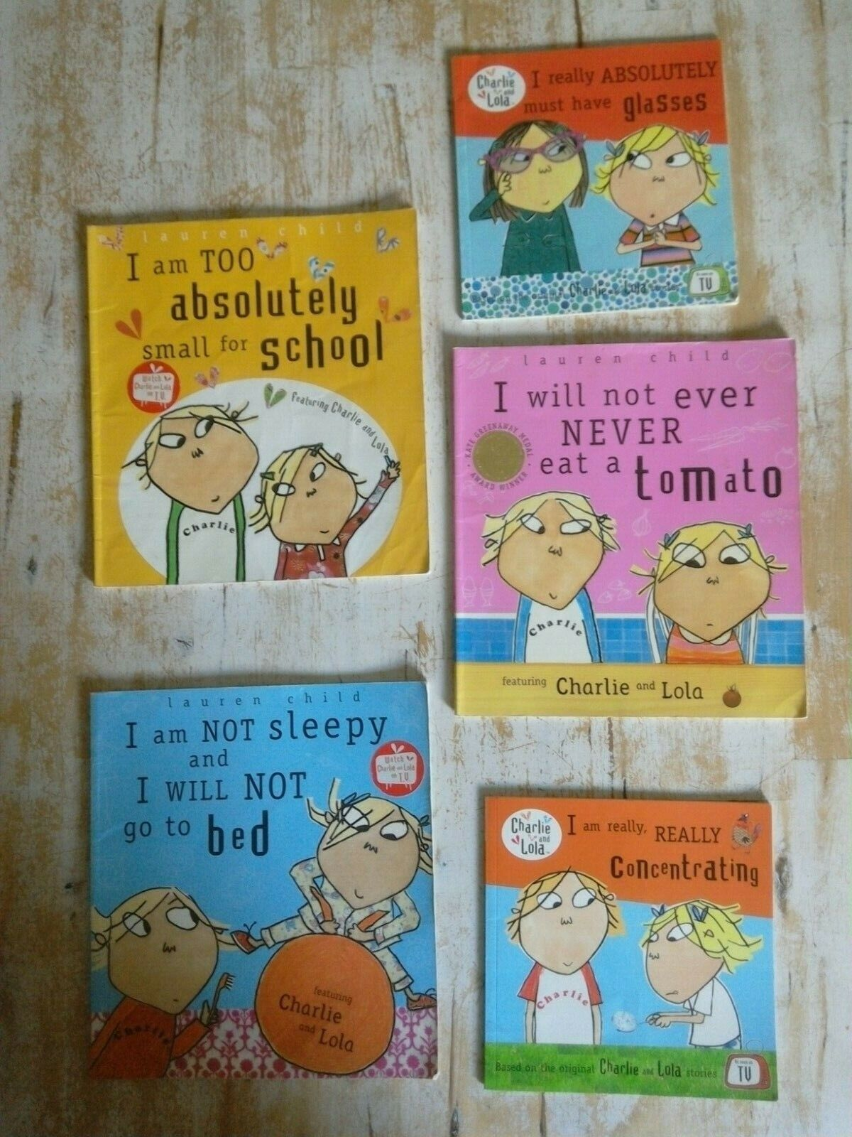 5 Charlie and Lola Books by Lauren Child -Paperback Children's Books in English