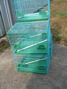 NEW SQUARE BIRD CAGES BLUE- $13 EACH- MED SIZE -READ AD!!