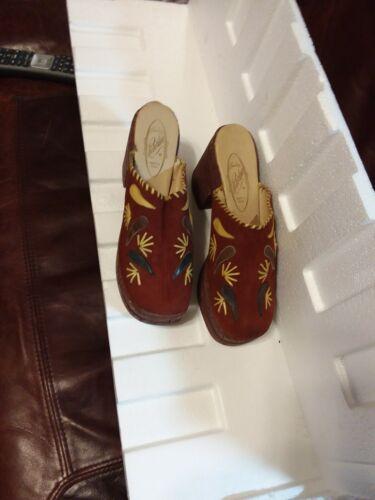 70s Creaciones Robertina MOD Psychedelic Hippie Cork Platform Shoes Womens 11m