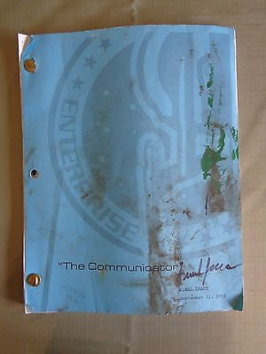 Star Trek Enterprise Stage Used Crew Script The Communicator