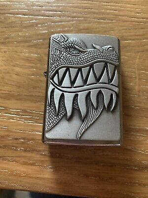 Zippo Fire Breathing Dragon Lighter Used