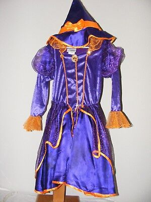 Disney Parks Minnie Mouse Witch Purple Halloween Orange Dress Size Small](Witch Minnie Mouse Costume)