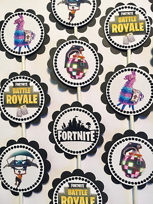30 Fortnite Party Dimensional Birthday Cupcake Toppers *Ready to Ship*