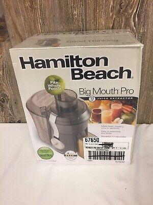 Brand New Hamilton Beach Big Mouth Juice Extractor Powerful 800 (Hamilton Beach Big Mouth Juice Extractor Red)