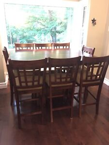 9 Piece Counter Height Table and Chairs