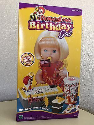 Hasbro Mcdonaldland McDonald's Birthday Girl Doll NEW 1999 Doll RARE