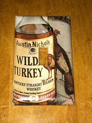 CLASSIC Austin Nichols WILD TURKEY Straight LIGHT SWITCH COVER PLATE A