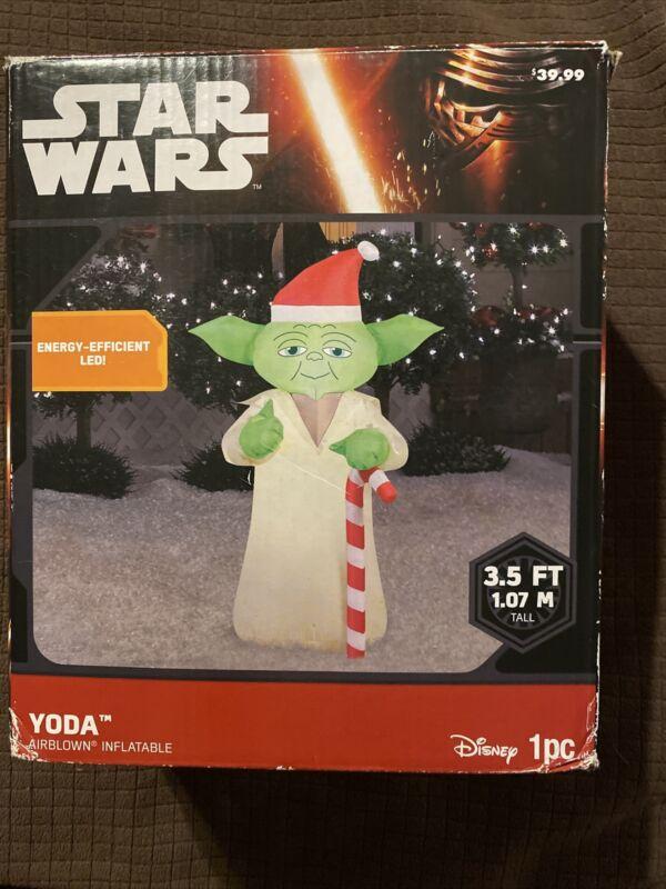 Star Wars Yoda Airblown Inflatable Xmas Yard Decoration Disney 3.5 ft Gemmy