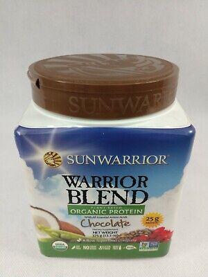 Sunwarrior Warrior Blend Protein Organic Plant-Based Chocolate Best By