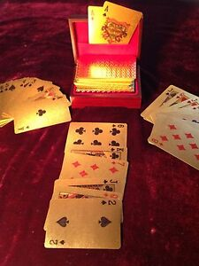 Gold plated playing cards Fannie Bay Darwin City Preview