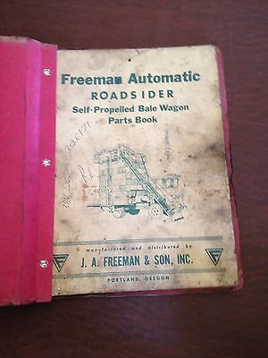 Freeman Bale Wagon Roadsider Parts Catalog Book Manual