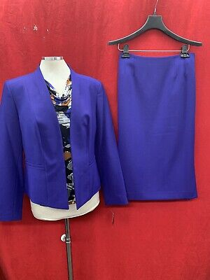 KASPER SKIRT SUIT/TANK NOT INCLUDED/PURPLE/LINED/RETAIL 12/NEW W TAG