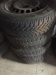 4 pneus good year 185 65 15  avec roue acier  civic echo etc