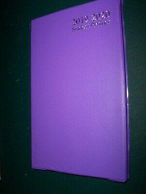 2019 2020 Weekly Agenda 18month 4x7 Purple Planner Student Calendar Vinyl Cvr
