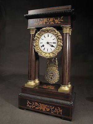 Original antique French portico clock circa:1870
