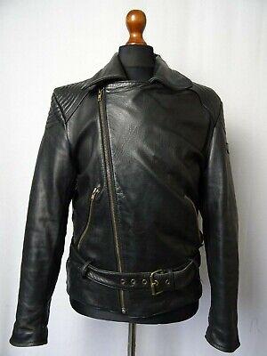 Men's Vintage MQP Leather Biker Jacket Luftwaffe Style 42R (M)