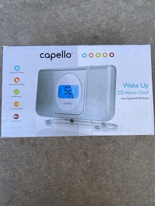 NIB CAPELLO WAKE UP CD PLAYER ALARM CLOCK w/ DIGITAL AM/FM RADIO