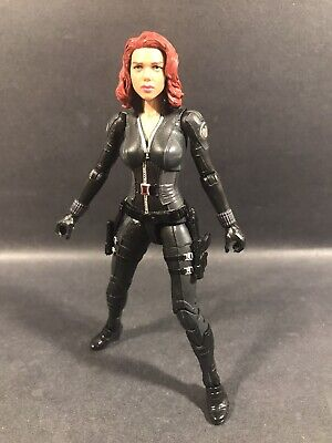 "MARVEL LEGENDS MANDROID BAF SERIES BLACK WIDOW 6"" FIGURE WINTER SOLDIER AVENGERS"