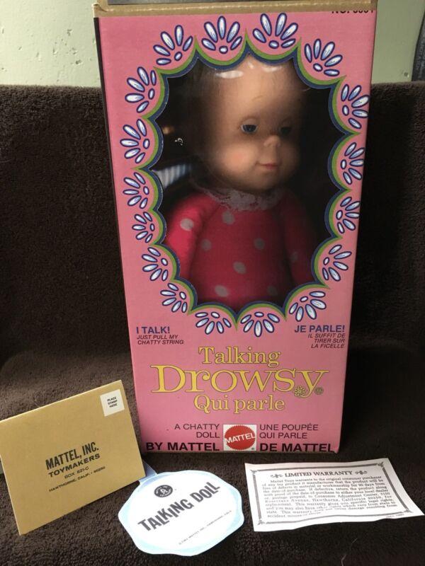 Mattel Drowsy Doll Reproduction Box/Tags