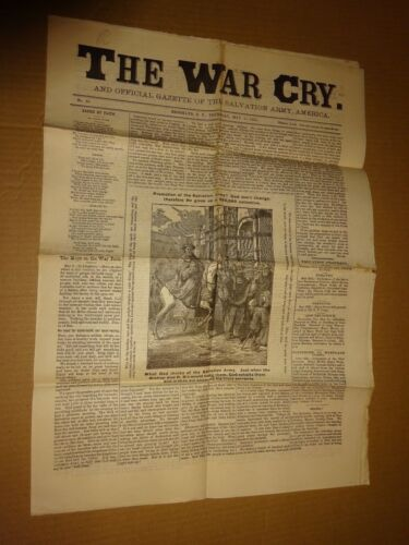 1883 Salvation Army War Cry Newspaper May 31