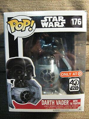 STAR WARS Darth Vader w/Tie Fighter #176 Funko Pop (Target exclusive) VHTF!