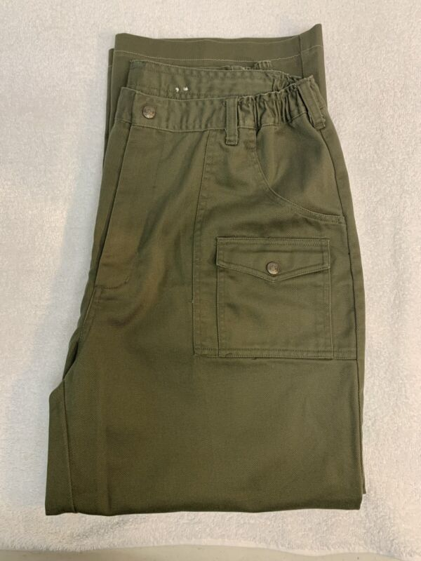 Boy Scouts of America BSA Green Official Uniform Cargo Pant Mens size 38/32