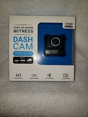 Pilot Dash Cam 720P HD Resolution with 8GB SD Card Your On Board Witness