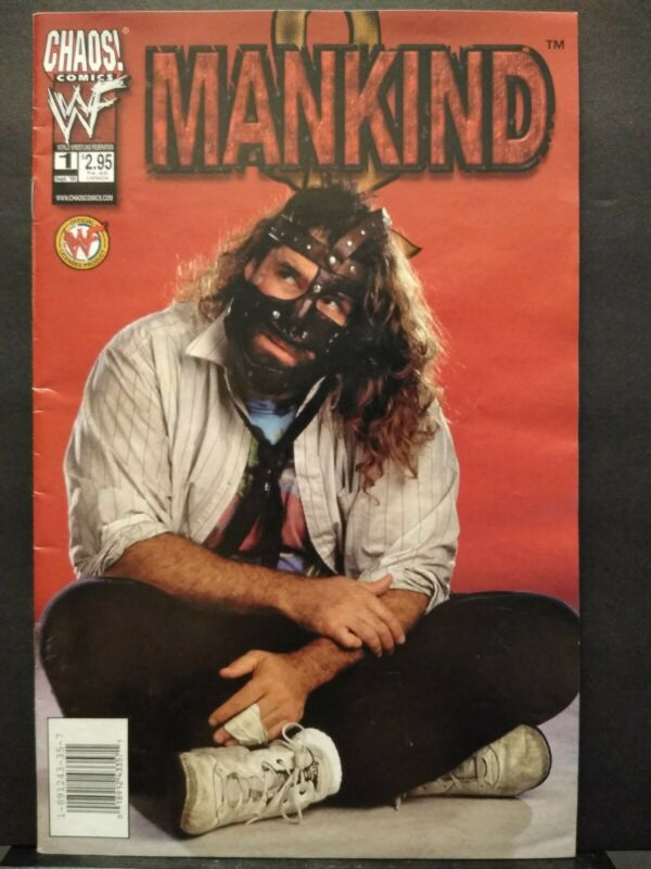 MANKIND #1 One-Shot PHOTO COVER (M) MICK FOLEY  WWF / WWE - 1999 CHAOS Comic FN